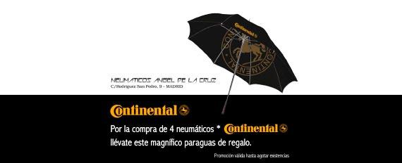 Llévate este paraguas con la compra de 4 neumáticos Continental